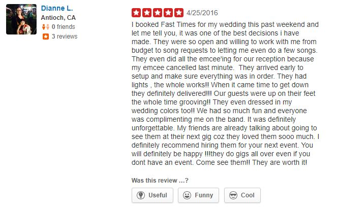 5 Star Wedding Band Review