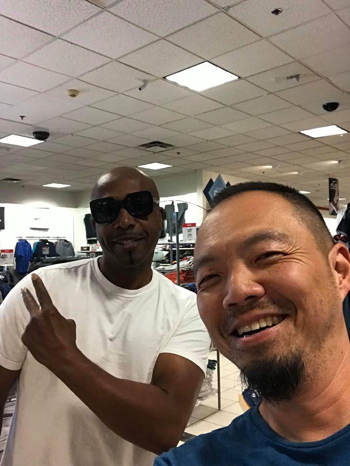Jason with MC Hammer